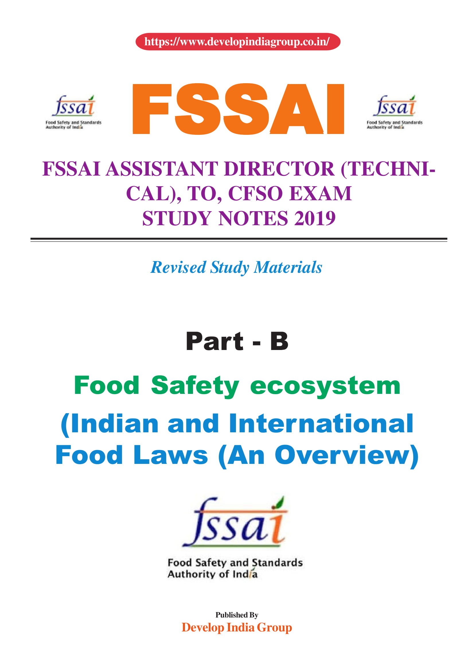 FSSAI Exam 2019 (Written Exam) Complete Study Notes available