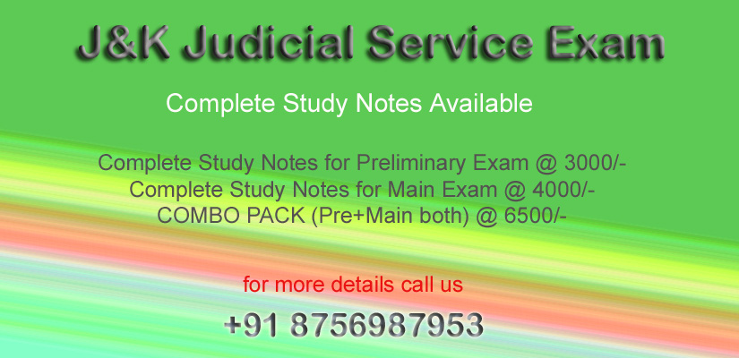 J&K Judicial Services Exam 2019
