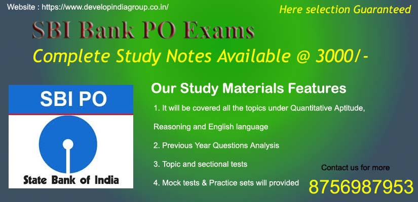 SBI Bank PO Exams 2019