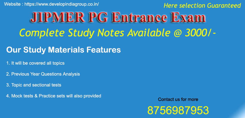 JIPMER PG Entrance Exam 2019