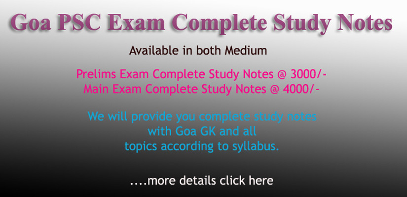 GoaPSC Complete Study Notes 2019